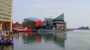 Inner Harbor - view of the National Aquarium