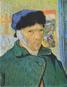 Self-portrait with bandaged ear. Vincent van Gogh, 1889. (wikipedia.org)