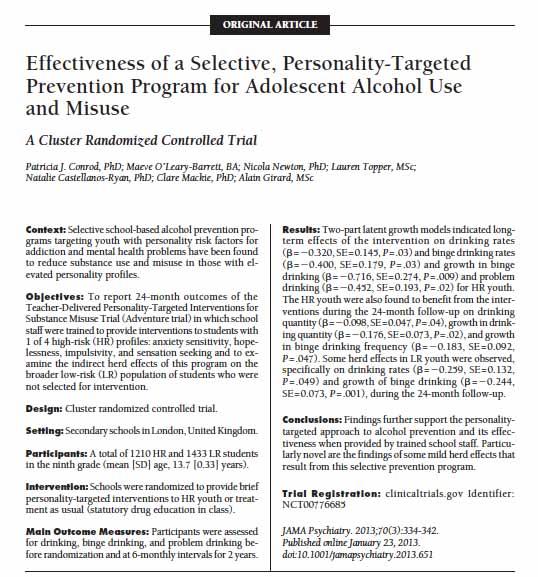 Conrod et al.2013 abstract