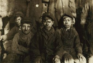 Attitudes towards childhood development have certainly changed! Child coal miners ca. 1911 (wikipedia.org).